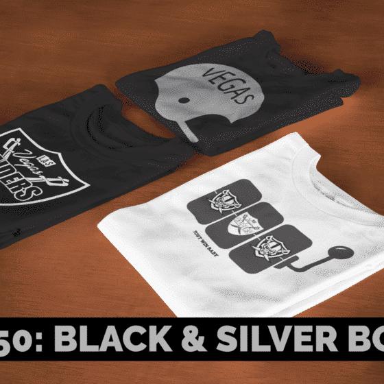 Black & Silver Box – 3 Vegas Raiders Inspired T-Shirts (Basic)