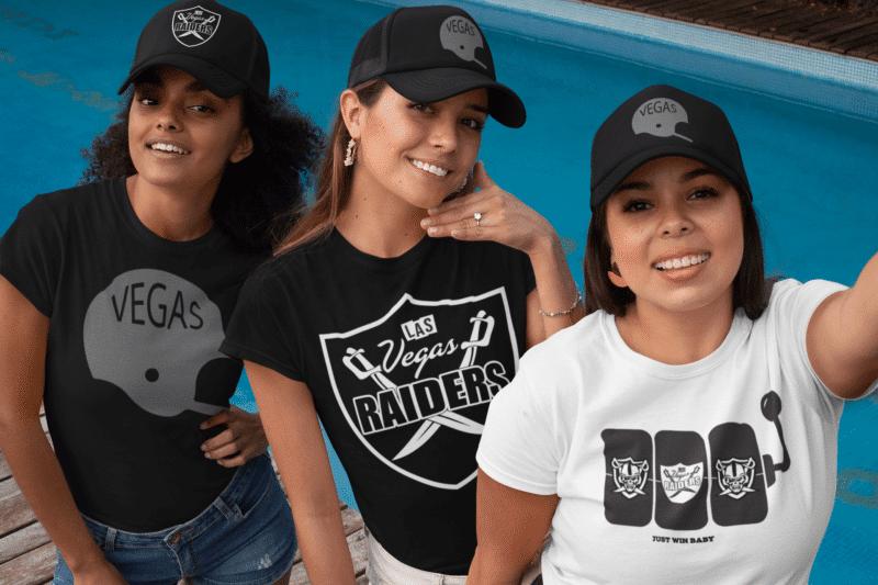 Silver & Black Box – 3 Vegas Raiders Inspired T-Shirts (Basic)