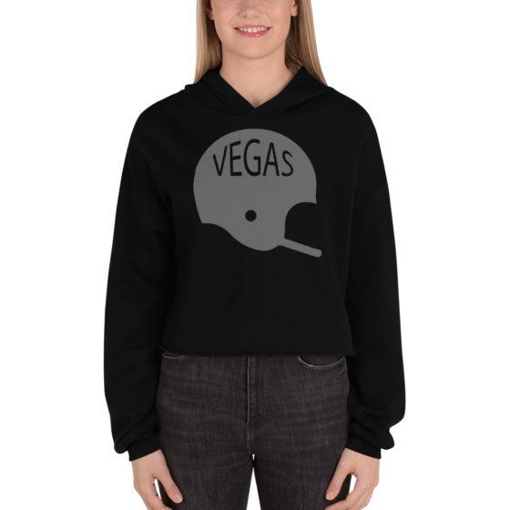 Vegas Raiders Crop-Top Hoodie