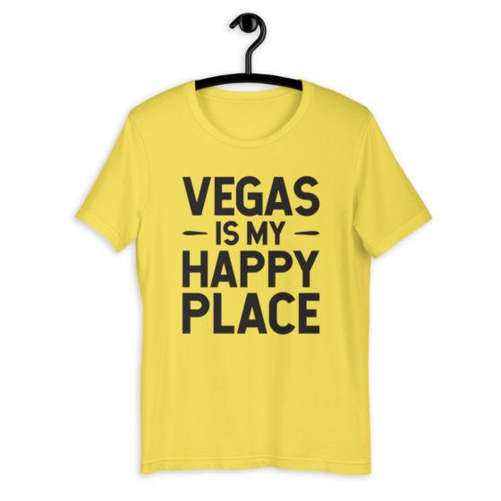 Vegas is My Happy Place Premium Short-Sleeve Unisex T-Shirt