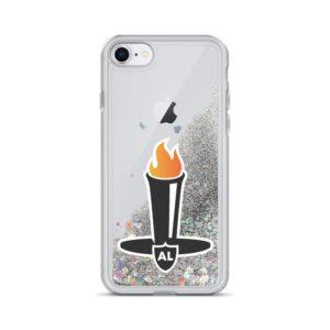 Liquid Glitter Al Davis Tribute iPhone Case